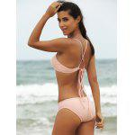 Alluring Solid Color Spaghetti Strap Women's Bikini Set for sale