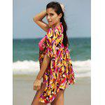 Buy Stylish Women's Plunging Neck Loose Print Cover COLORMIX