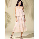 Bohemian Beach Scoop Neck  Sleeveless Chiffon Maxi Dress For Women - SHALLOW PINK