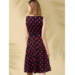 Retro Style Polka Dot Fit and Flare Dress for sale