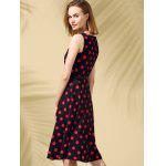 Retro Style Polka Dot Fit and Flare Dress deal
