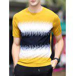 Buy EARTHY Round Neck Color Block Splicing Design Loose-Fitting Short Sleeve T-Shirt For Men for $17.98 in GearBest store
