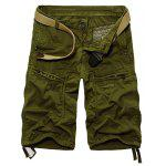 Casual Solid Color Cargo Shorts For Men - ARMY GREEN