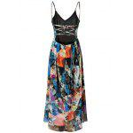 Buy Fashion Cami High Waisted Backless Print Maxi Dress Women M COLORMIX