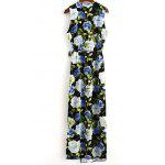 Buy Fashion V-Neck High Slit Floral Wrap Maxi Dress Women L COLORMIX