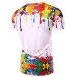 3D Colorful Splatter Paint Short Sleeve T-Shirt - COLORMIX