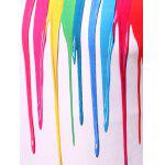 3D Colorful Vertical Splatter Paint T-Shirt - COLORMIX