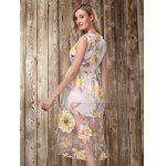 Midi Floral Print Dress - GOLDEN