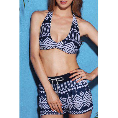 Stylish Halterneck Printed Bikini For Women