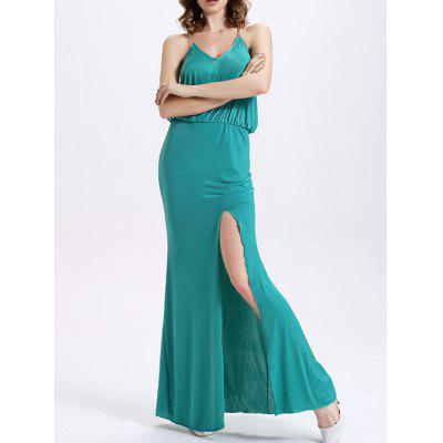 Fashion Cami High Waisted High Slit Maxi Dress For Women