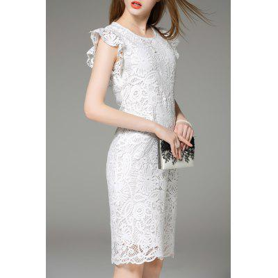 White Lace Hook Dress