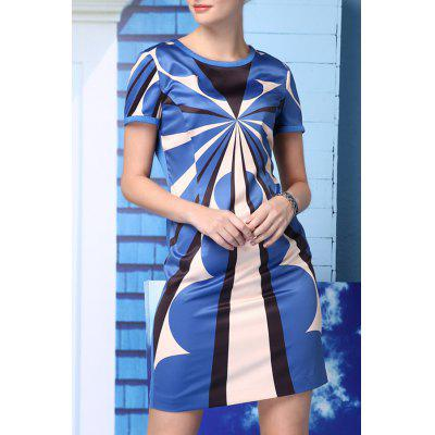 Straight Geometric Pattern Dress