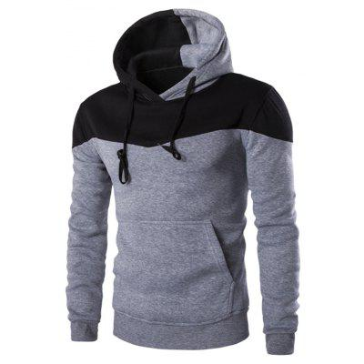 IZZUMI Hooded Long Sleeves Black and Grey Hoodie