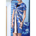 Straight Geometric Pattern Dress deal