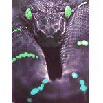 Fashion Pullover Snakeskin Printed Men's T-Shirt - COLORMIX