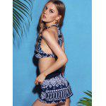 Stylish Halterneck Printed Bikini For Women deal