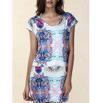 Ethnic Print Mini Shift Dress - MULTICOLORE