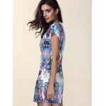 Ethnic Print Mini Shift Dress - COLORMIX