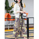Buy Trendy Sleeveless Printed Women's Long Dress M COLORMIX