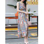 Buy Trendy Sleeveless Printed Women's Bohemian Dress M COLORMIX