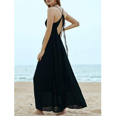 Stylish Cami Sleeveless Black Cut Out Women's Dress