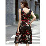 Stylish Jewel Neck Sleeveless Belted Dress For Women deal