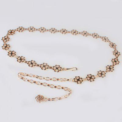 Chic Sweet Lucky Four Leaf Clover Waist Chain For Women