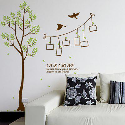 Buy Fashion Green Tree Pattern Photo Wall Sticker For Livingroom Bedroom Decoration COLORMIX for $4.93 in GearBest store