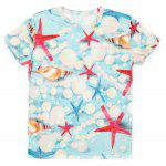 Casual Pullover Round Collar 3D Starfish Printed T-Shirt For Men deal