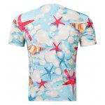 cheap Casual Pullover Round Collar 3D Starfish Printed T-Shirt For Men