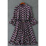 Chevron Pattern Flounced Dress for sale