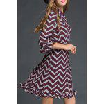 Chevron Pattern Flounced Dress deal