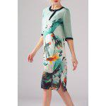 Goldfish Print Side Slit Dress Twinset deal