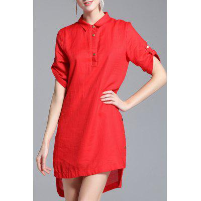 High Low Hem Loose Dress