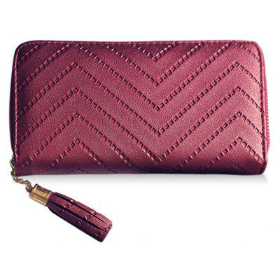 Trendy Tassel and Solid Color Design Wallet For Women