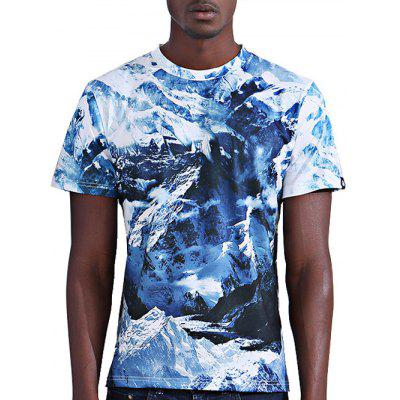 Buy COLORMIX XL Abstract 3D Iceberg Print Round Neck Short Sleeves T-Shirt For Men for $14.34 in GearBest store