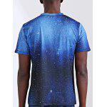 Abstract 3D Star Print Round Neck Short Sleeves T-Shirt For Men - COLORMIX
