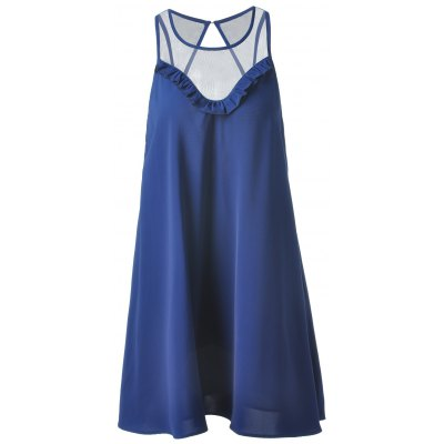 Fashionable Loose-Fitting Scoop Neck Mini Dress For Women