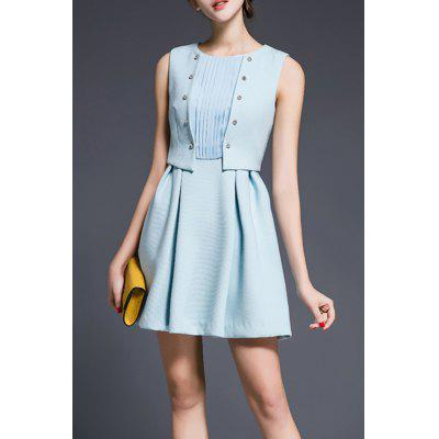 Faux Twinset Solid Color Dress