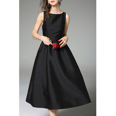 Fitting Pure Color Tank Dress