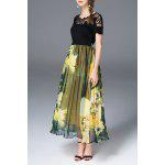 Belted Floral Print Maxi Dress deal