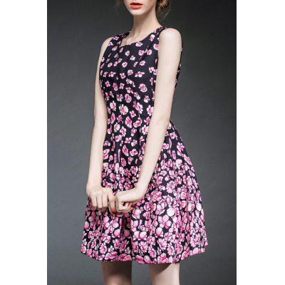 Fitting Flower Print Tank Dress