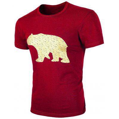 Short Sleeve Red T Shirt Men
