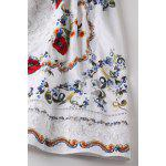 Lace Spliced Hollow Out Embroidery Tank Dress photo