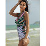 cheap Plunging Neck Backless One-Piece Swimsuit For Women