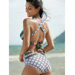 Plunging Neck Backless One-Piece Swimsuit For Women deal