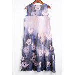 Applique Sleevless Print Dress photo
