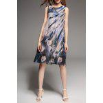 Applique Sleevless Print Dress deal