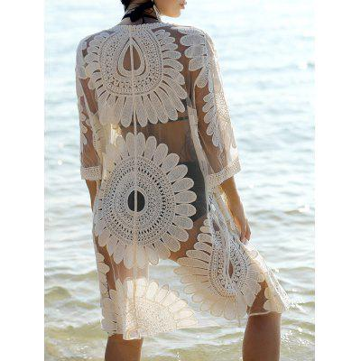 Bohemian Flare Sleeve Lace Spliced Women's Cover-Up