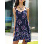 Bohemian Strappy Backless Dress For Women - BLEU VIOLET